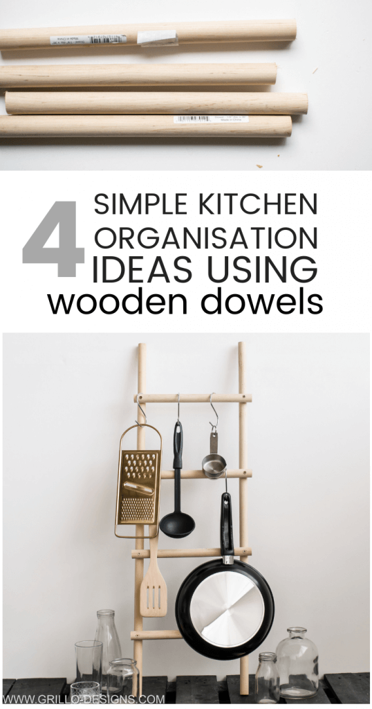 4 clever ways to use use wooden dowels in your kitchen / grillo designs