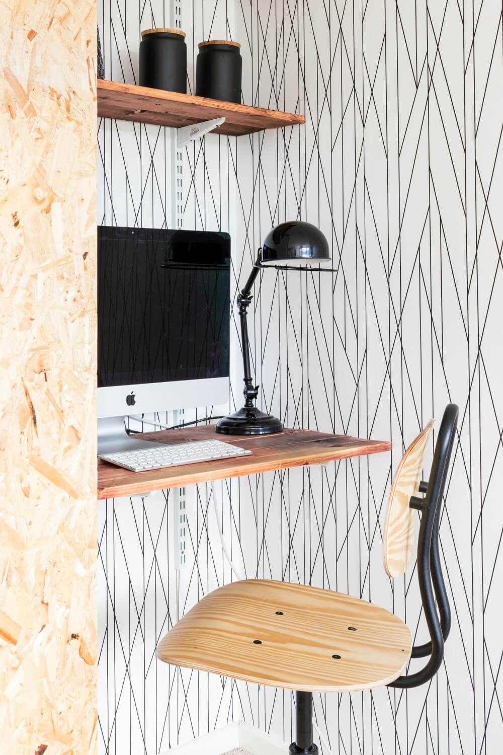 Scandi style black desk lamp from my modern lighting collection / grillo designs