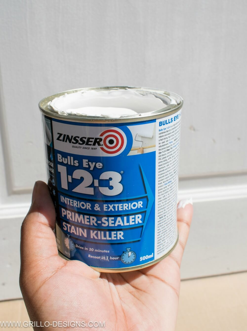 Paint glass panel doors tutorial - primer used is zinsser bulls eye 123