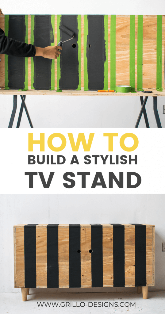 How to make a modern diy tv stand in just a weekend