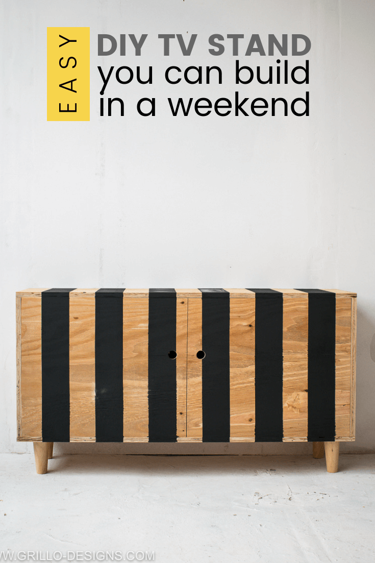 Diy Tv Stand You Can Build In A Weekend Grillo Designs
