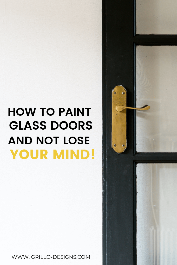 Easy way to paint glass panel doors in your home