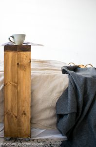 How to build a rolling  over bed table