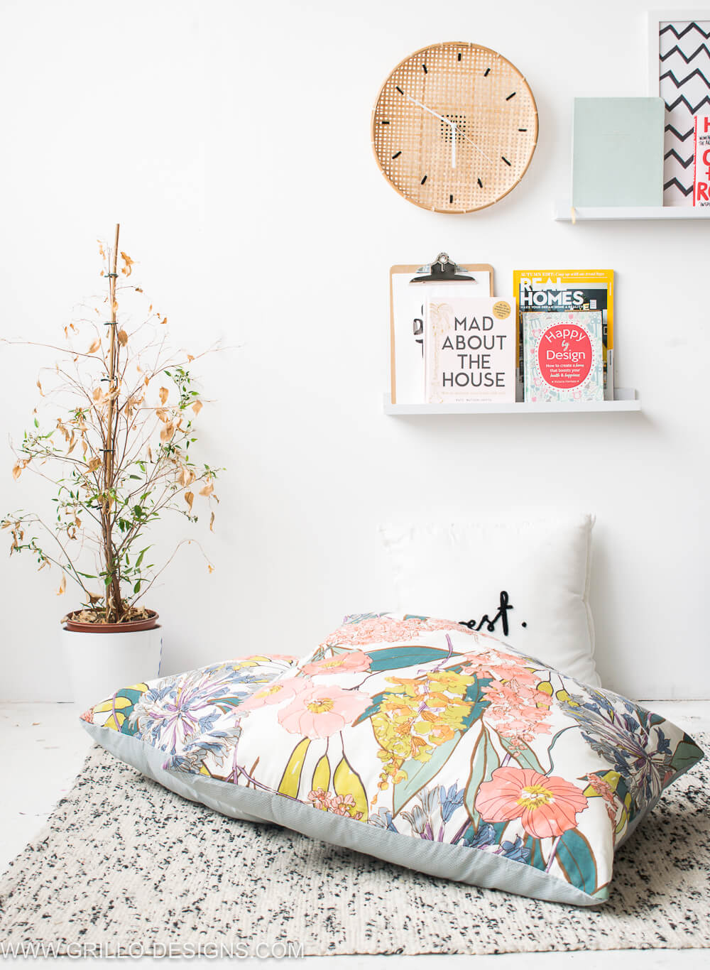 DIY No Sew Large Floor Cushions