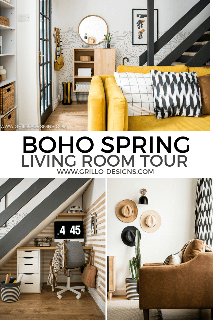 Boho inspired spring living room tour styles with products from the Argos Summer/Spring 2019 collection. This