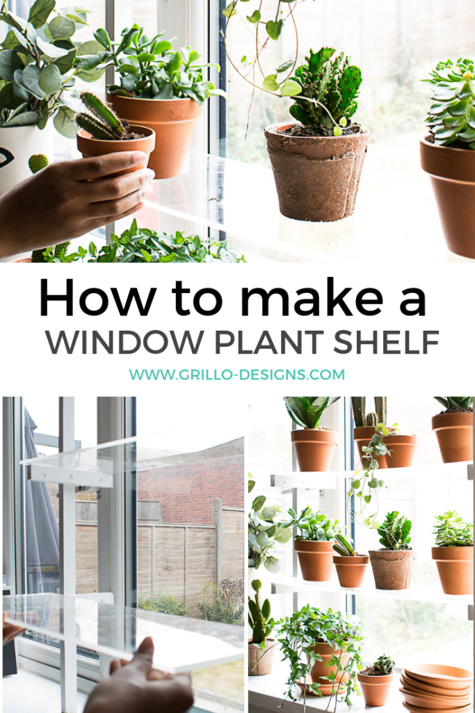 Diy window plant shelf - Step by step tutorial on how to create indoor floating window shelves