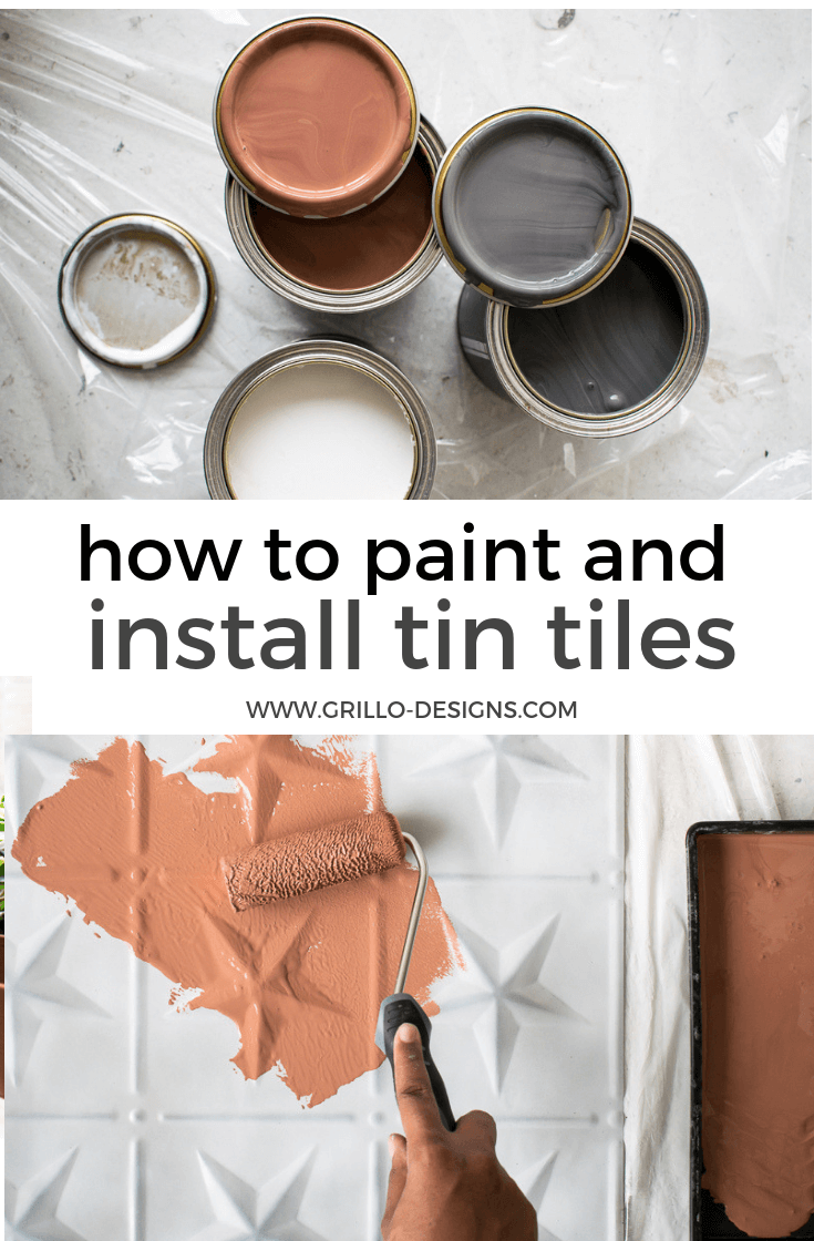How to update tin tiles with paint / grillo designs