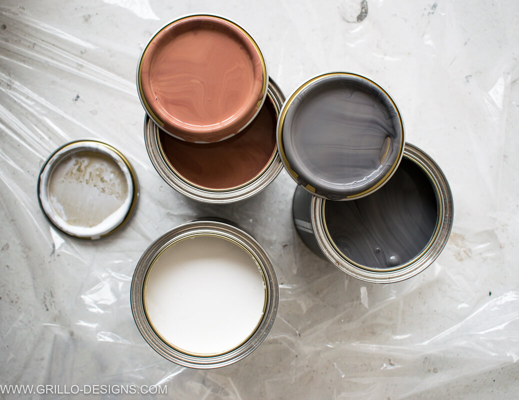 three selections of paint from the rocket st george paint collection , raeburn, craftmans white and emmanuella