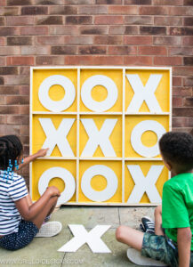 Make a Giant Wooden Noughts & Crosses Game Board!