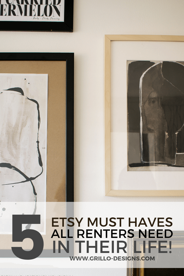 5 Etsy Must Haves Every Renter Needs in their life!