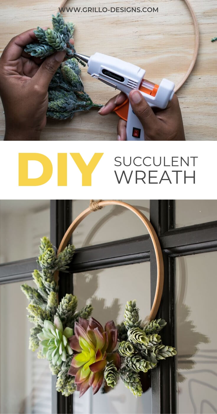 Succulent wreath pinterest graphic