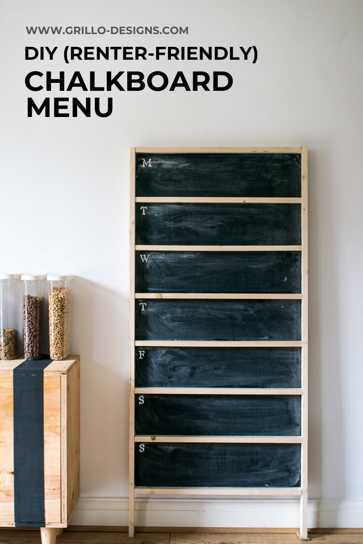 DIy chalkboard menu pinterest graphic
