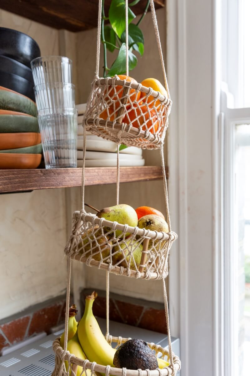 Fruits and veg in hanging baset