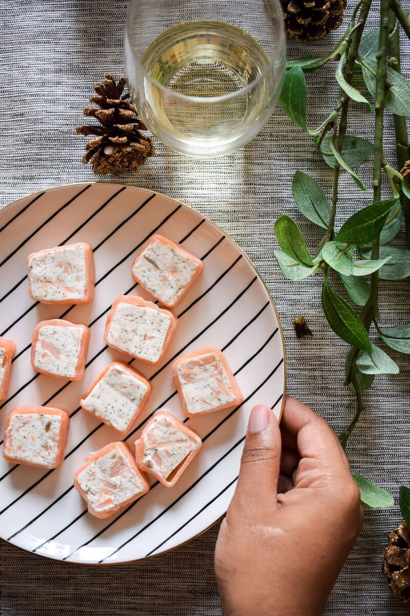 SMOKED AND POACHED SALMON CANAPE IDEAS