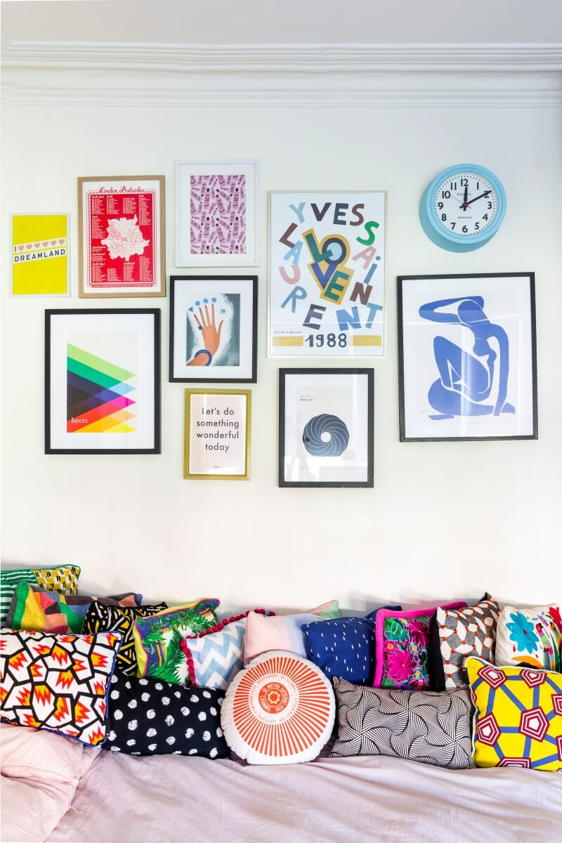Galley wall in Kristabel's bedroom