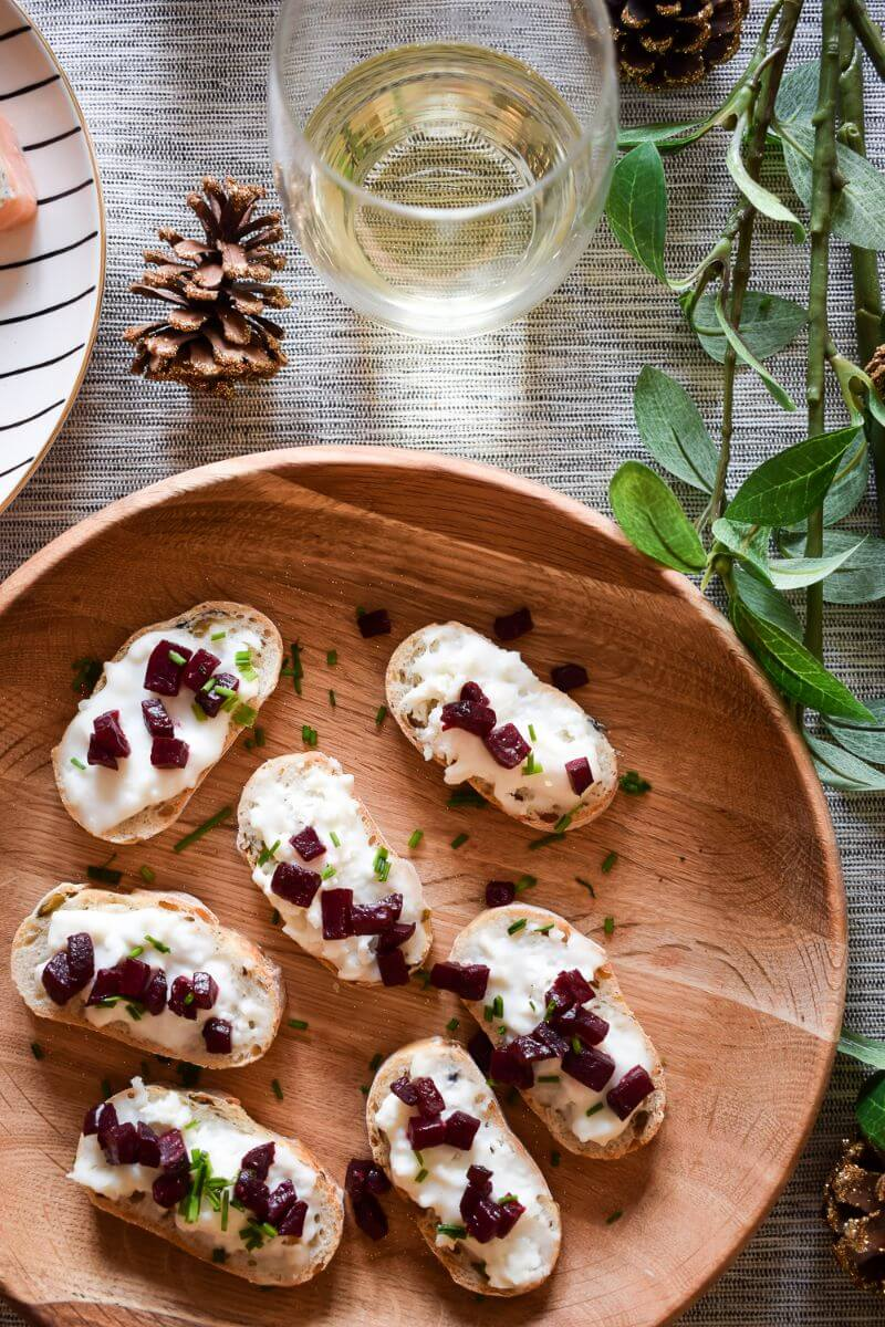 .GOATS CHEESE AND BEETROOT BRUSCHETTA CANAPE IDEAS