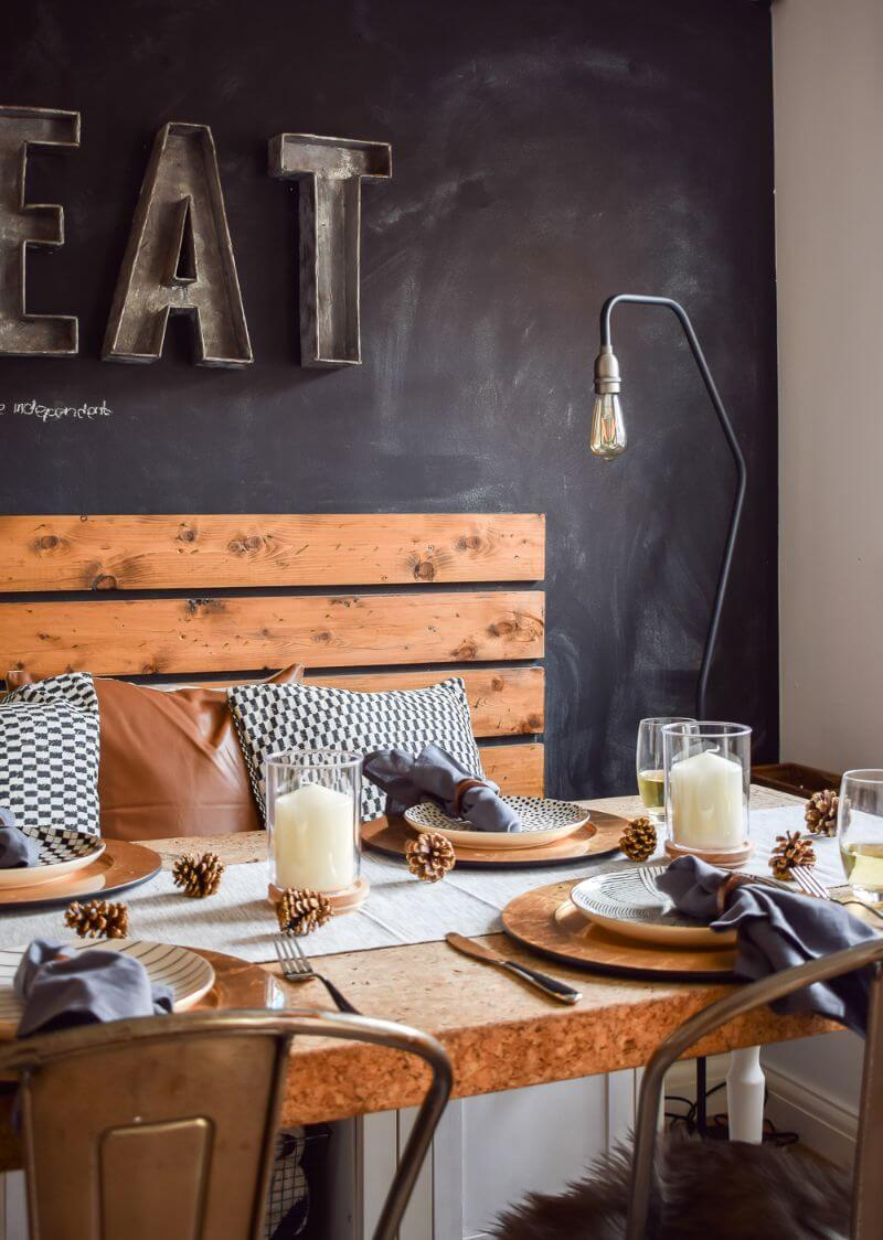 Modern styling table scape in an industrial dining room john lewis and partners