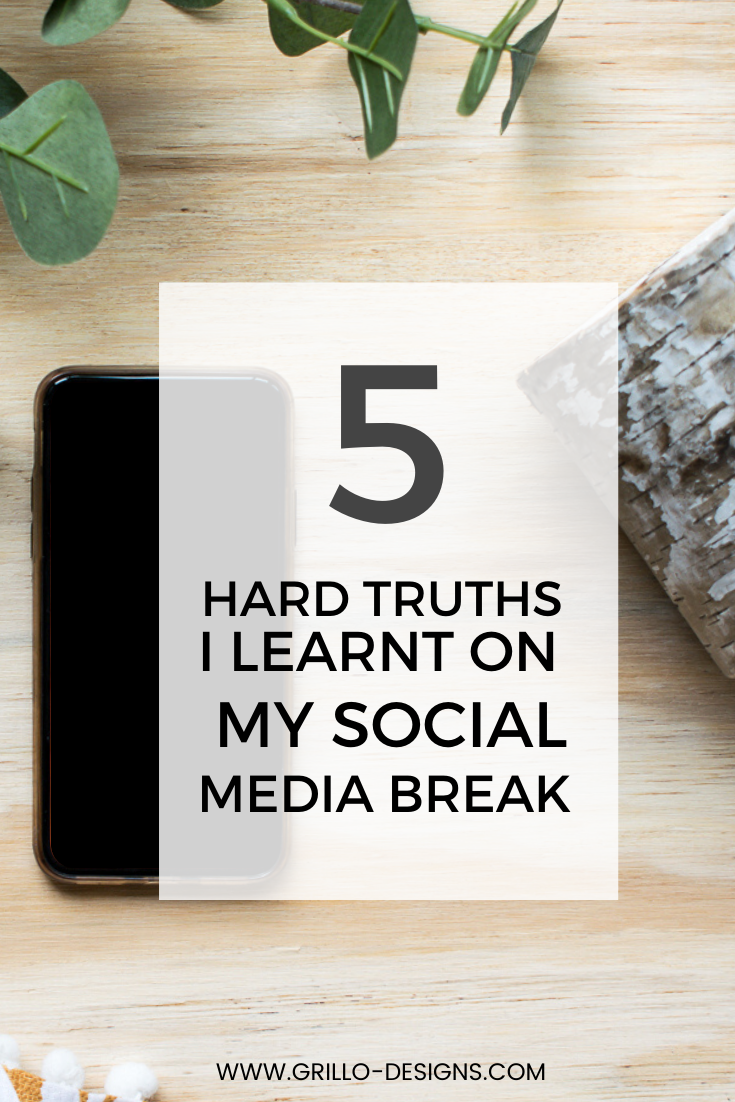 I took a two month social media break. Here are the five things I leanrt about myself during ths time away from social media.