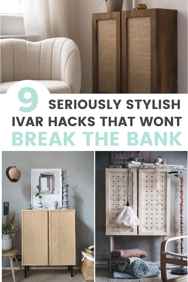 9 stylish ikea ivar cabinet hacks that wont break the bank (pinterest graphic)