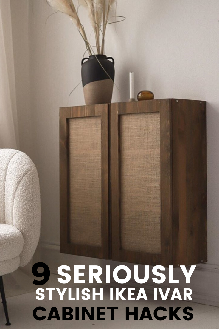9 stylish ikea ivar cabinet hacks that wont break the bank (pinterest graphic)