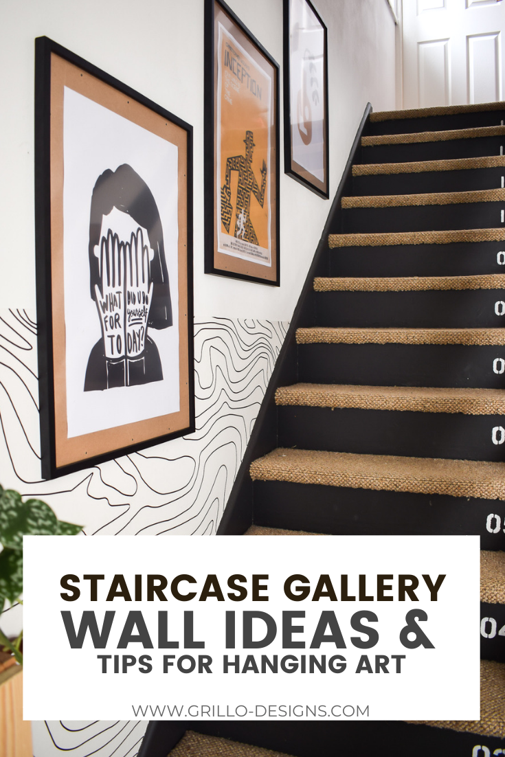 How to hang art for a staircase gallery wall idea pinterest graphic