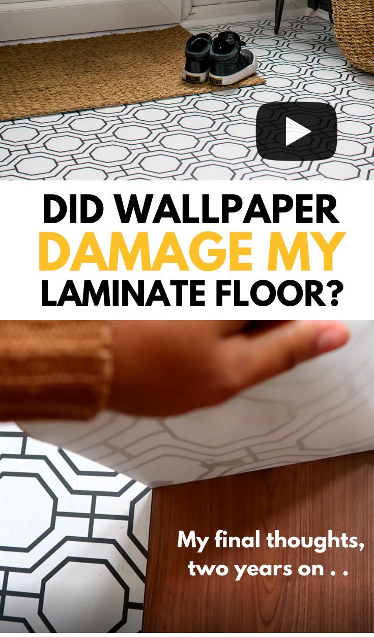 Do wallpapered floors really work pinterest graphic
