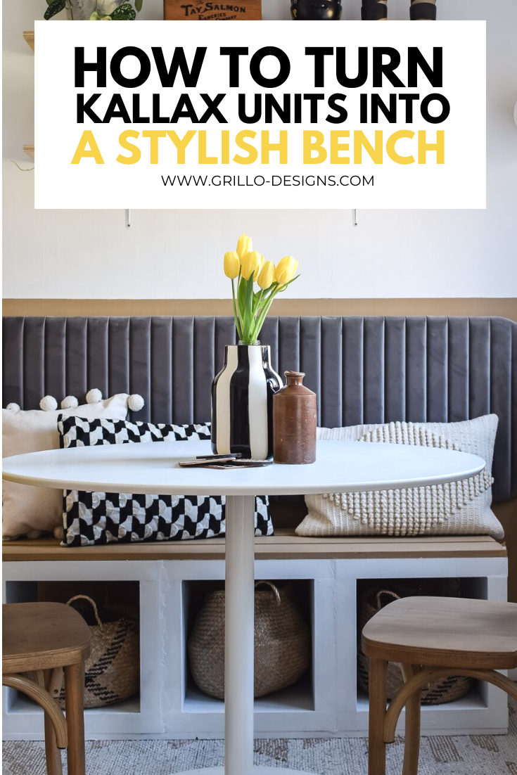 IKEA KALLAX HACK: HOW TO TURN SHELVING UNITS INTO A STYLISH BENCH GRAPHIC