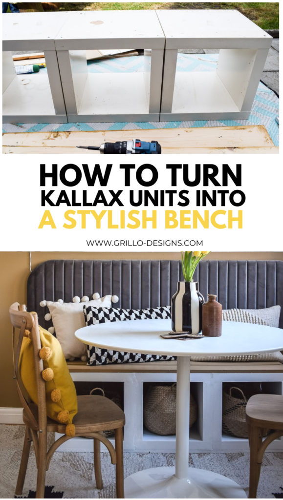 hoW TO TURN KALLAX UNITS INTO A STYLISH BENCH PINTEREST