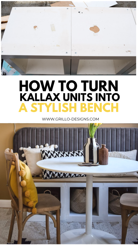 How to turn Kallax Units into a Stylish Bench