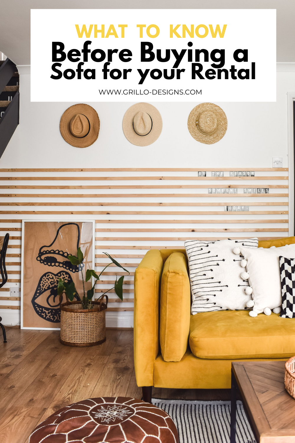What to know before buying a sofa for your rental