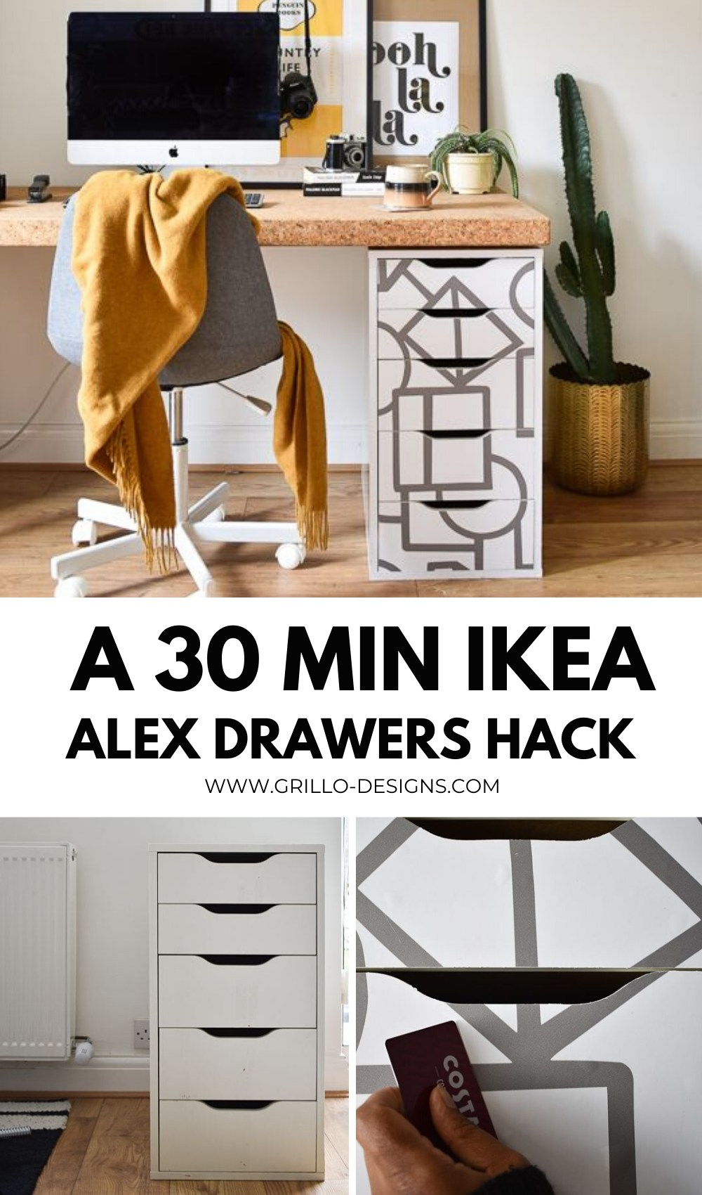 How to hack the ikea alex drAWERS PINTEREST GRAPHIC