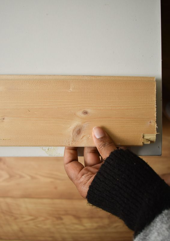 Wooden slats applied to the top of the ikea alex drawers