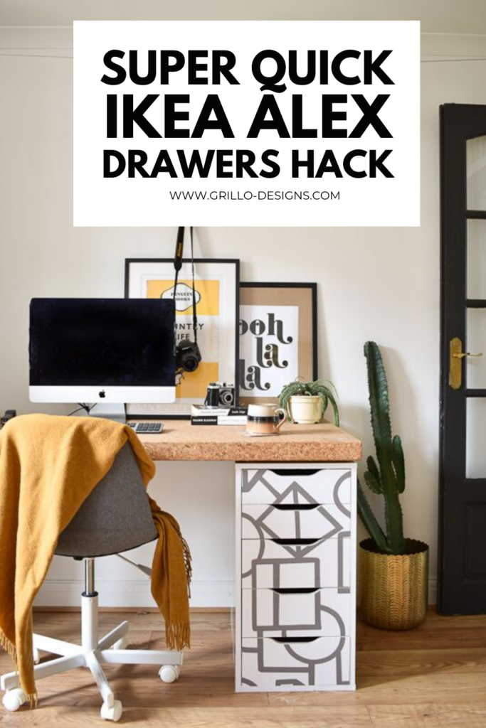 super quick ikea alex drawers hack pinterest graphic