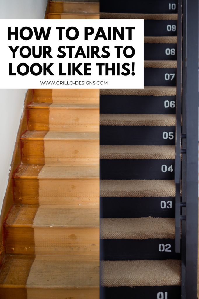 how to paint your stairs like this pinterest graphic