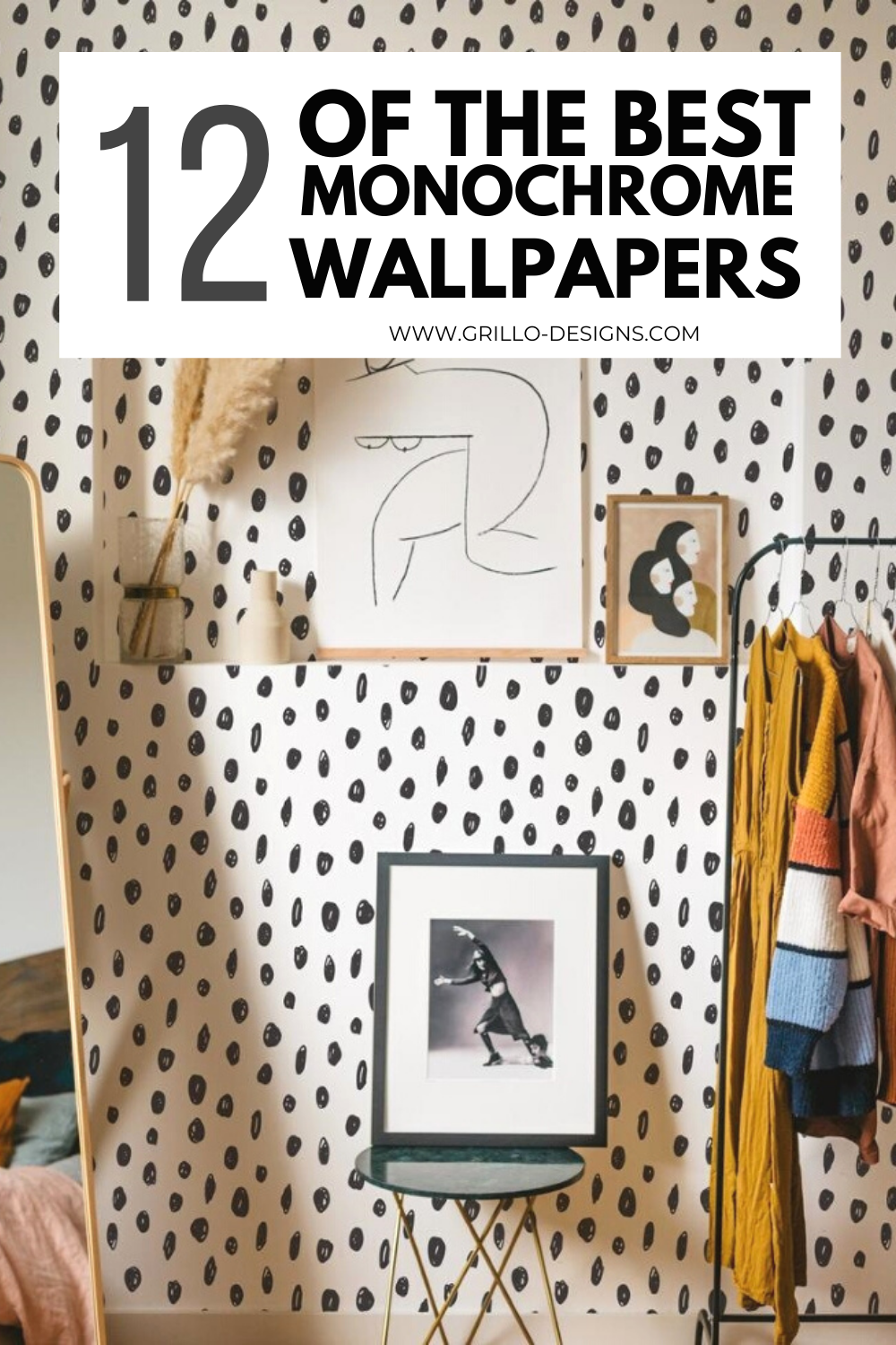 12 best monochrome self-adhesive wallpapers pinterest graphic