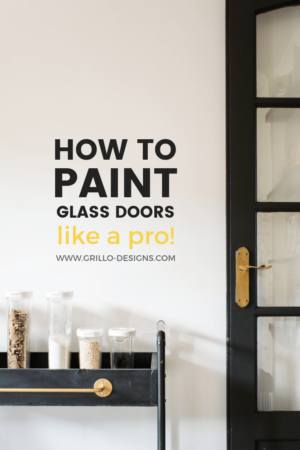 How to paint glass doors pinterest graphic