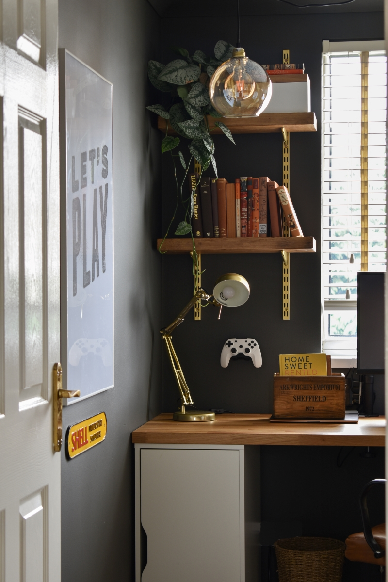 Man Cave Office Reveal: How to create a unique workspace for him.