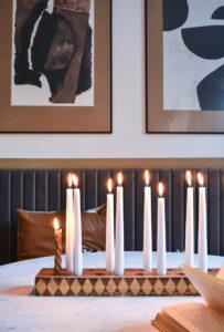 Checkered DIY Candlestick Holder