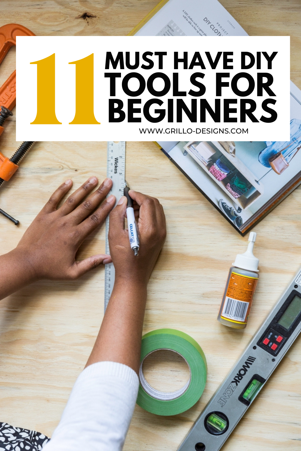 DIY tools for beginners pinterest graphic