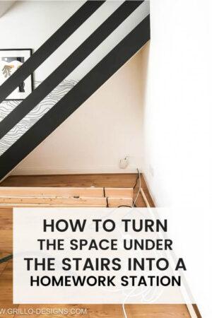 DIY-under-stairs-home-workstation pinterest graphic