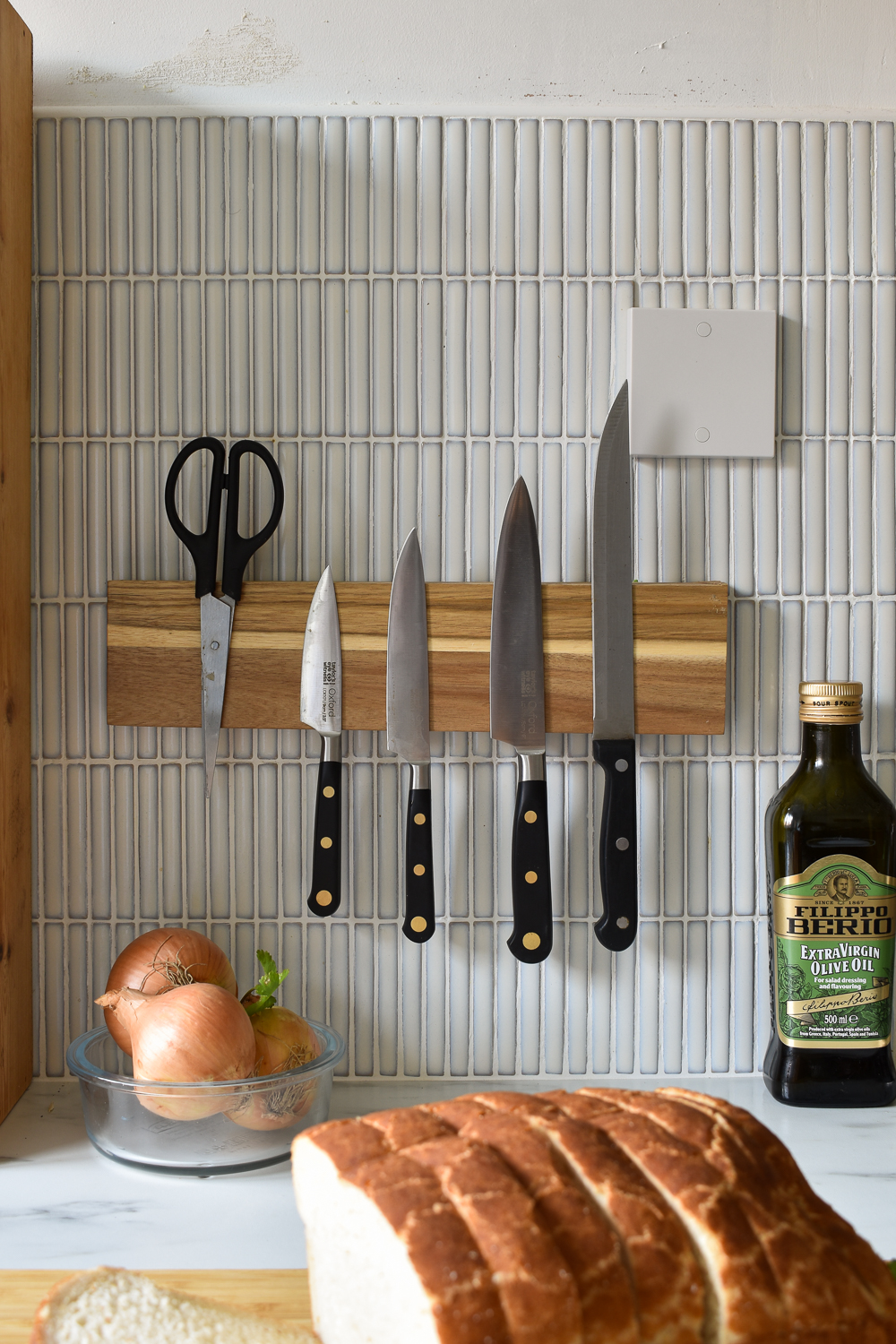 How to Make a No Drill DIY Magnetic Knife Rack